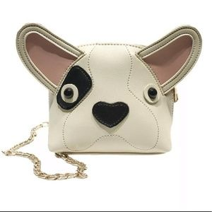 NEW Leather Frenchie Bulldog Mini Bag